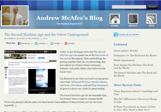 Andrew Mcafee's Blog
