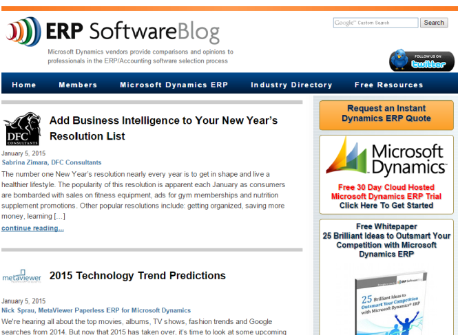 ERP Software Blog